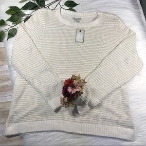 Dana Buchman Gold Thread Chenille Sweater XXL NWT